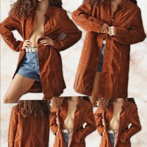 Vtg BRANDON THOMAS Patchwork Leather Coat